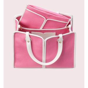 Kate Spade Medium Sam canvas satchel